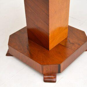 1920's Original Art Deco Walnut Coffee Table