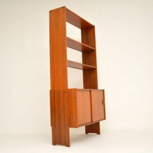 danish retro vintage teak bookcase cabinet
