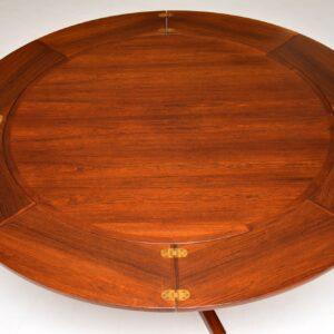 dyrlund danish rosewood retro vintage flip flap lotus dining table