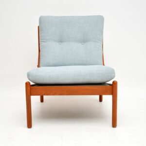 danish teak retro vintage armchair chair by illum wikkelso