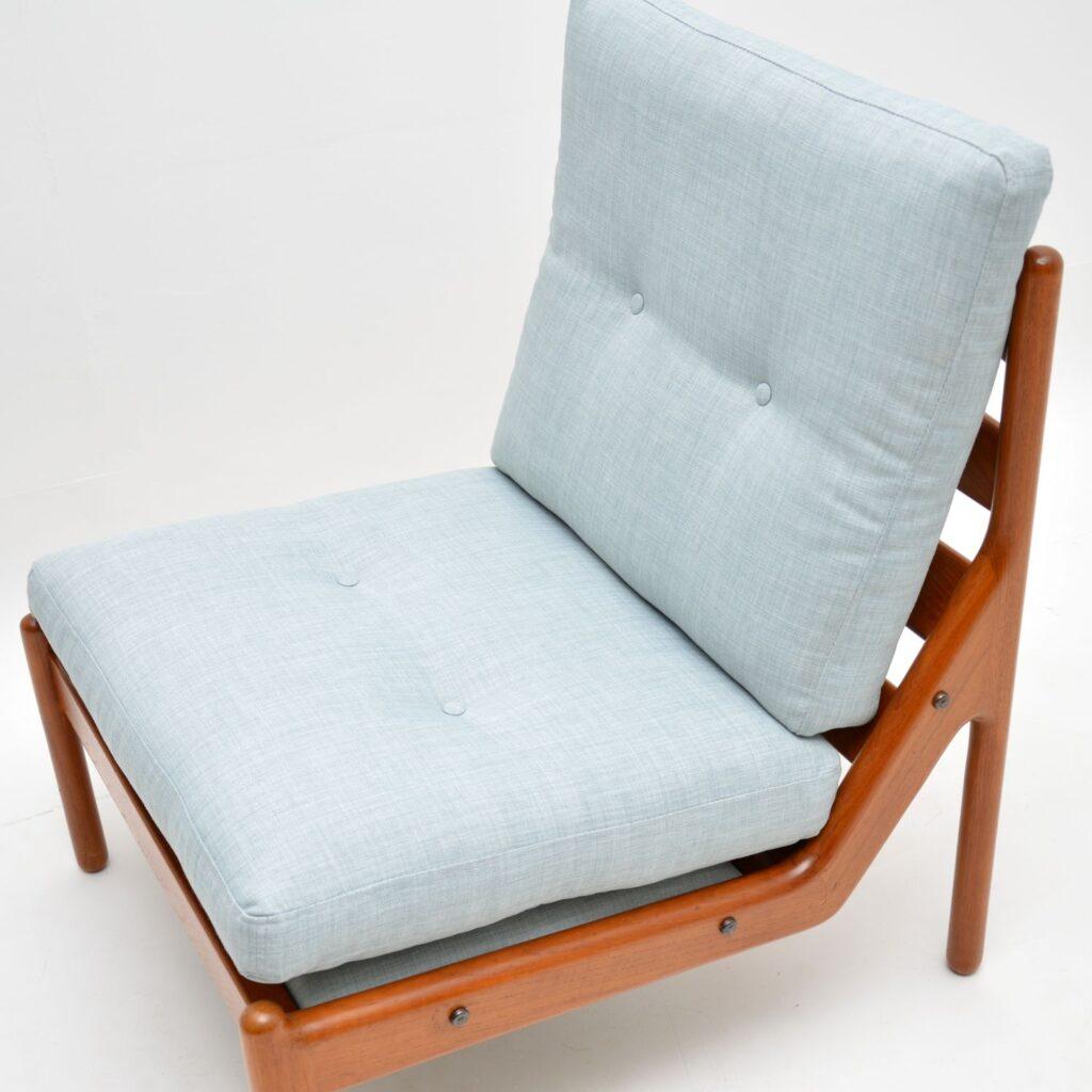 danish teak retro vintage armchair chair by illum wikkelso