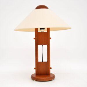 danish retro teak vintage floor table lamp