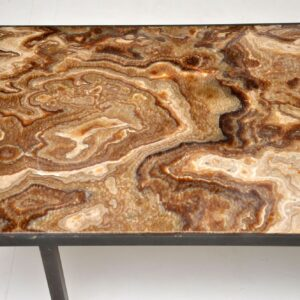 retro vintage antique brass marble coffee table