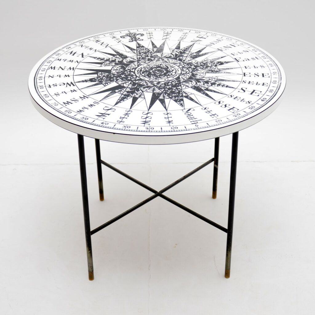 retro vintage fornasetti compass coffee table