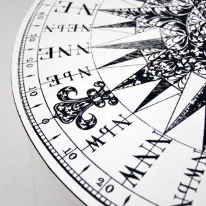 retro vintage fornasetti compass coffee table
