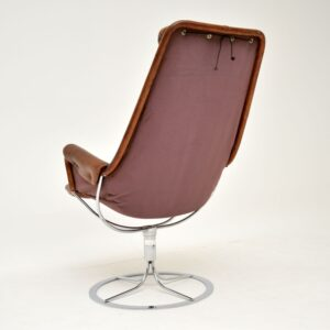 Vintage Leather & Chrome Jetson Chair by Bruno Mathsson for Dux