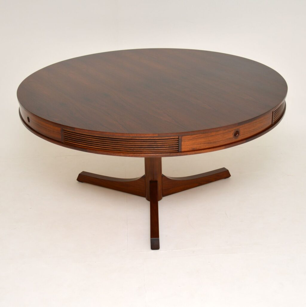 archie shine robert heritage drum dining table retro vintage