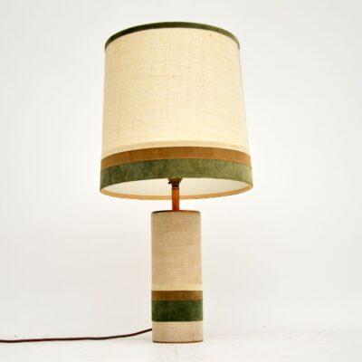 retro vintage copper velvet table lamp