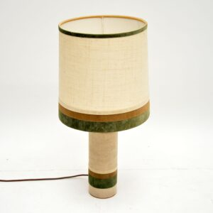 retro vintage copper velvet table lamp