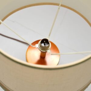 1960's Vintage Copper & Velvet Table Lamp