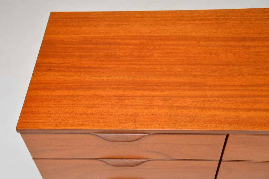 retro vintage mahogany sideboard chest of drawers