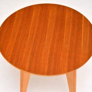 retro vintage walnut side coffee table