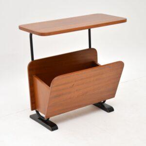 retro vintage walnut side table