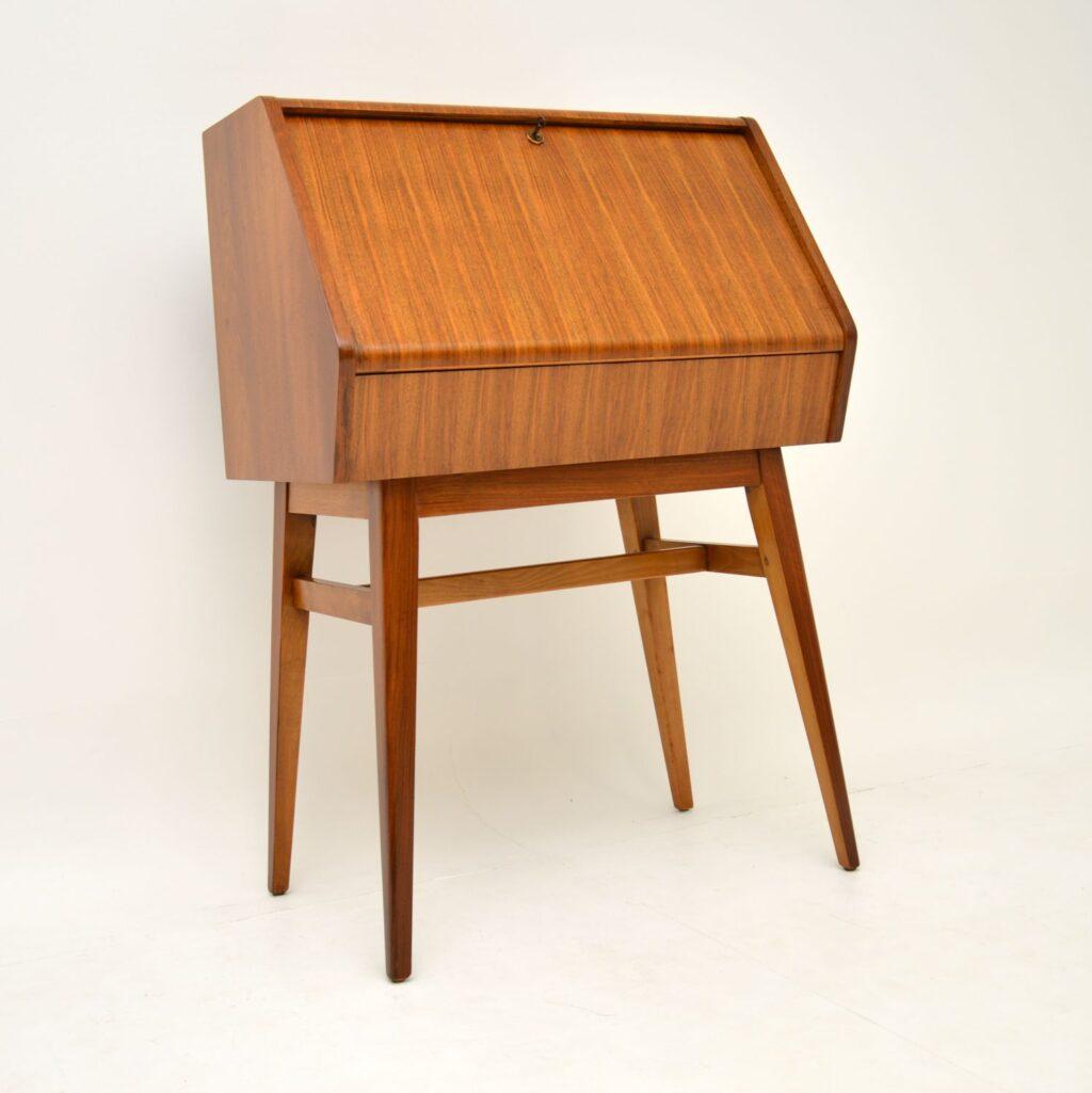 retro vintage walnut bureau