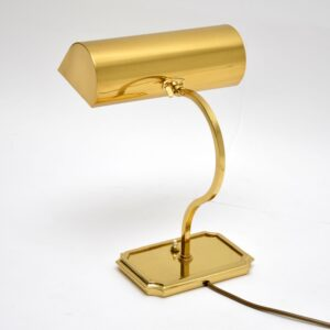 antique retro vintage brass bankers table desk lamp