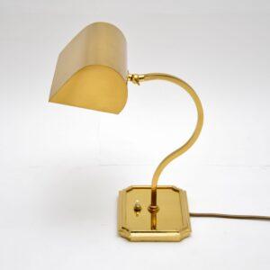 1970's Vintage Brass Bankers Desk Lamp