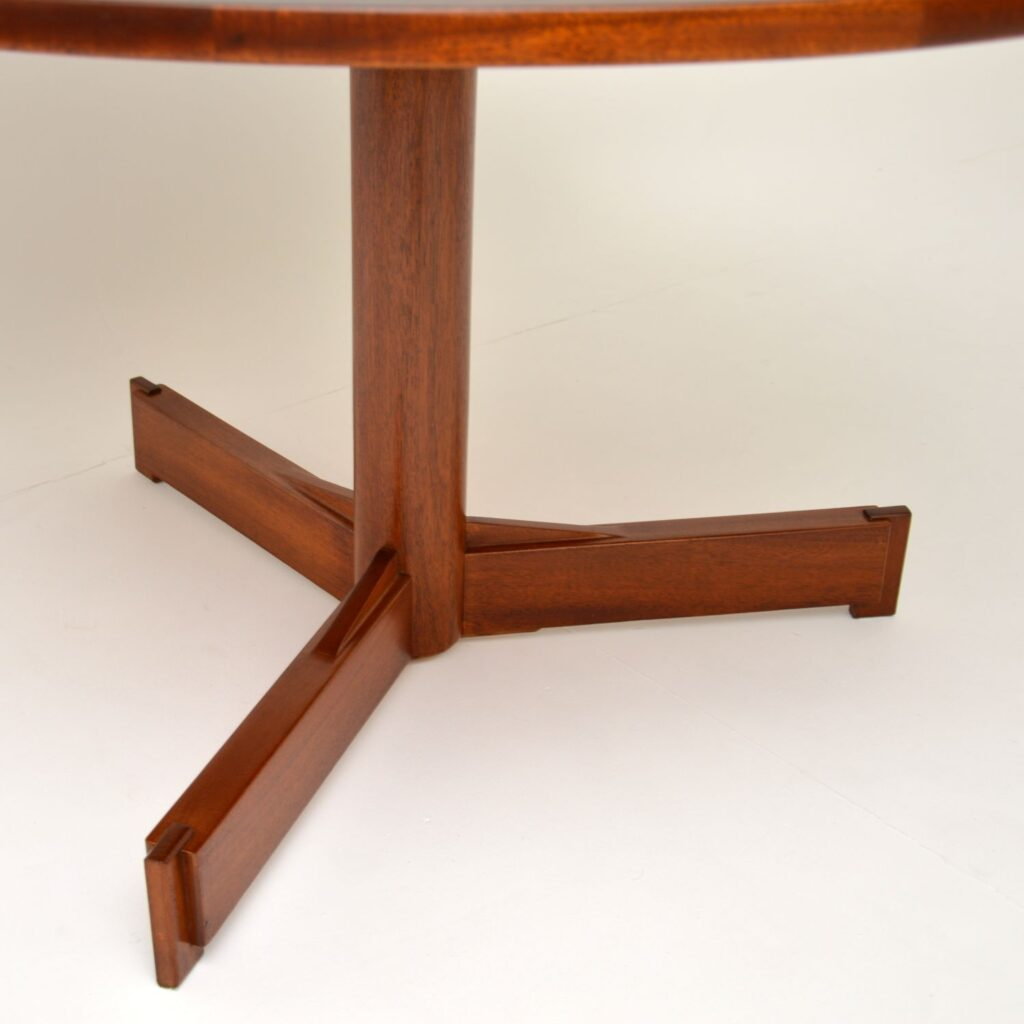 retro vintage rosewood dining table robert heritage archie shine