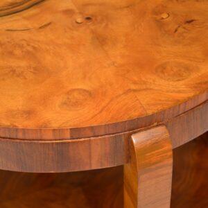 original art deco burr walnut coffee occasional table