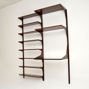 danish retro rosewood vintage wall unit royal shelving system cado bookcase