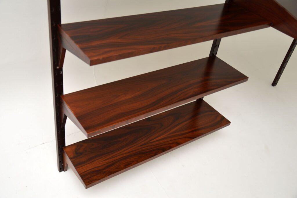 danish retro rosewood vintage wall unit royal shelving system cado bookcase