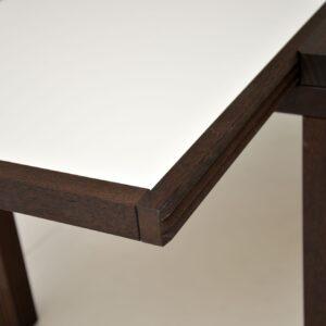 pair of retro vintage side tables hexa bernard vuarnesson