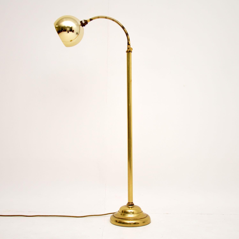 retro vintage brass adjustable floor lamp