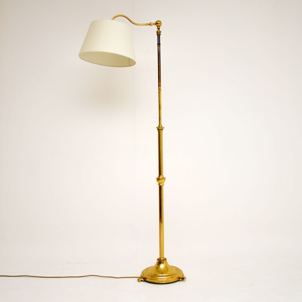 retro vintage antique brass adjustable floor lamp
