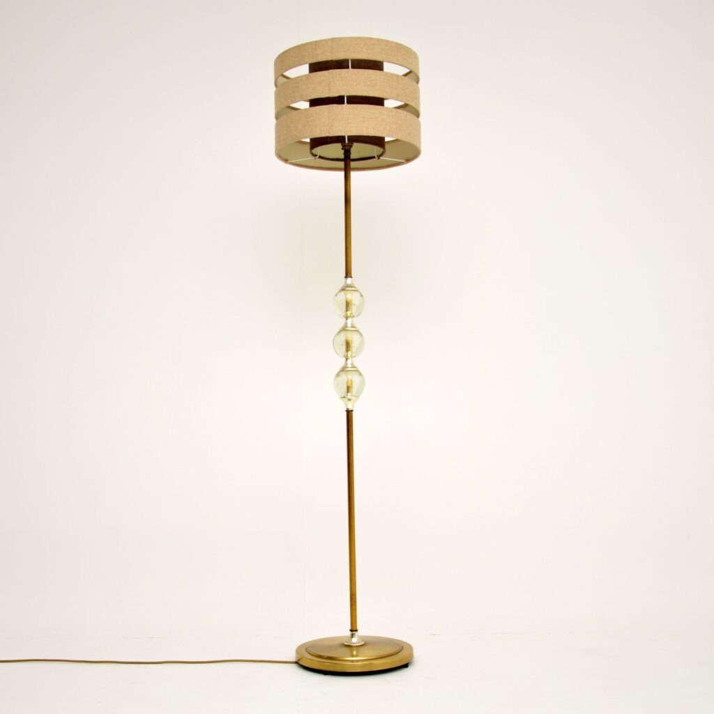 retro vintage brass acrylic floor lamp