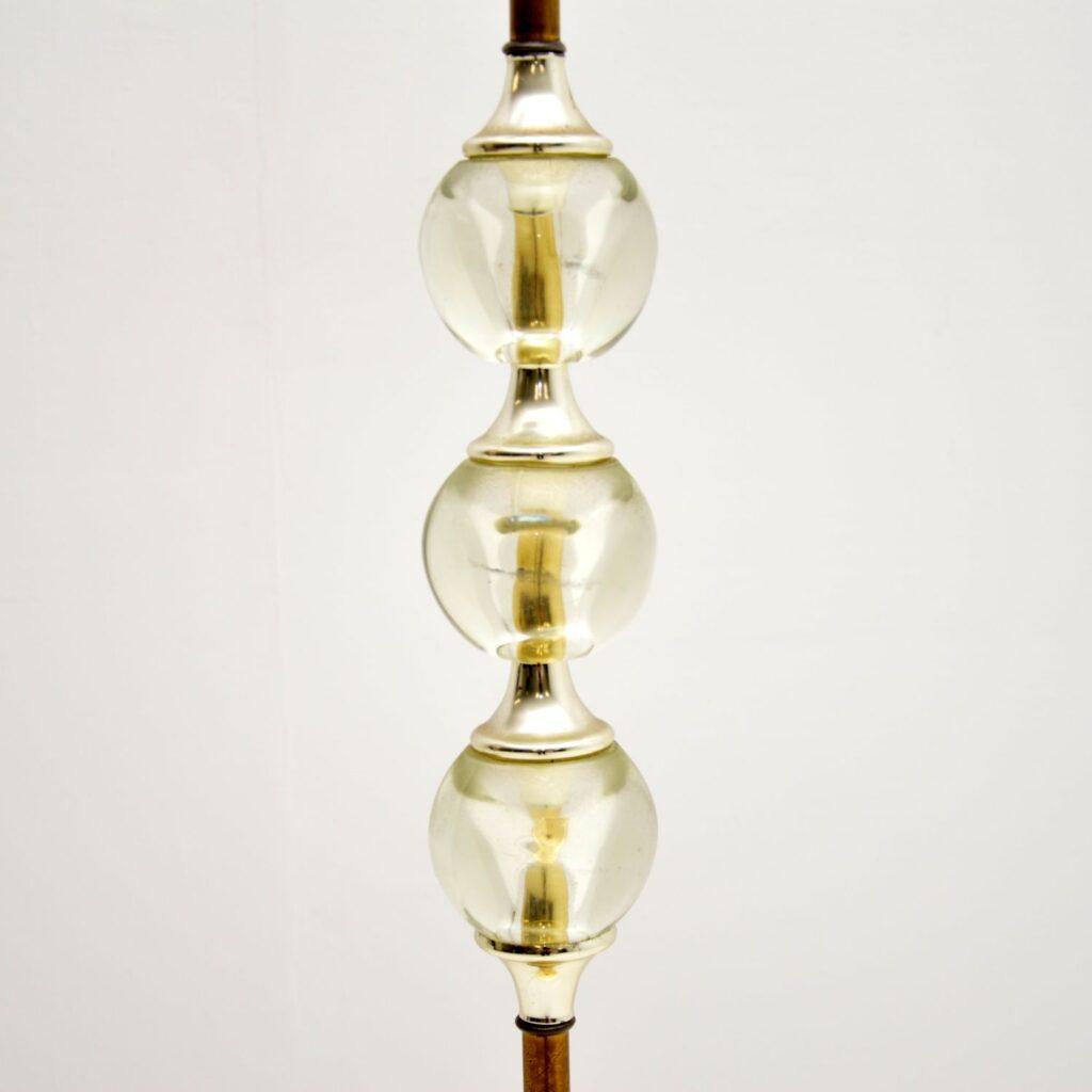 retro vintage brass acrylic floor lamp