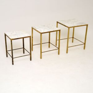 1950's Brass & Marble Nest of Tables