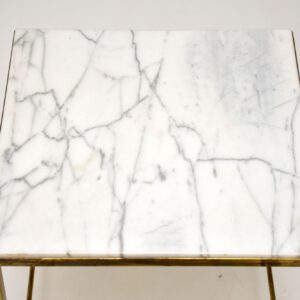 vintage retro brass marble nest of tables