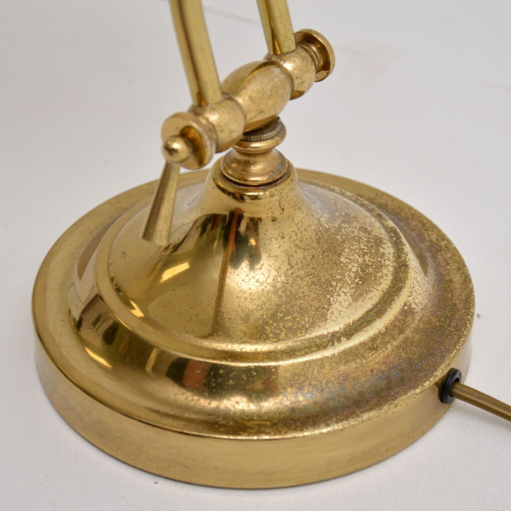 retro vintage antique brass table desk lamp