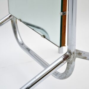 retro vintage chrome cheval mirror
