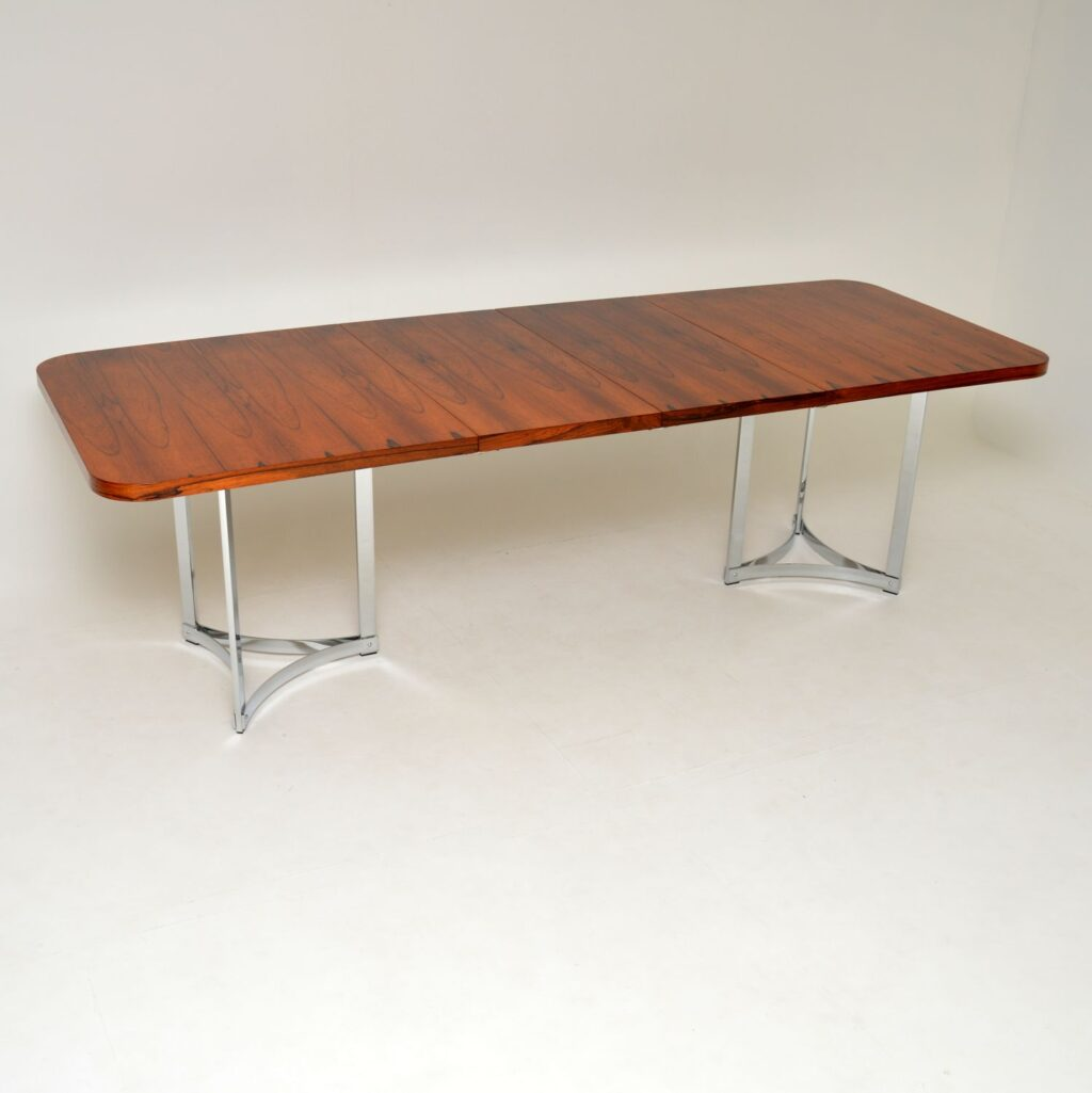 merrow associates richard young rosewood chrome dining table