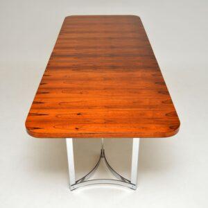merrow associates richard young rosewood chrome dining table