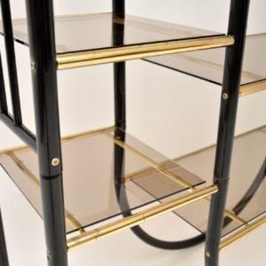 retro vintage italian brass display cabinet room divider