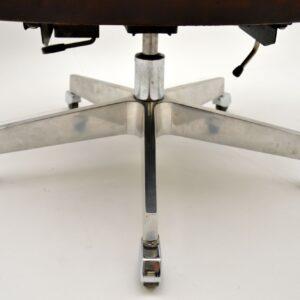 1960's Vintage Leather Swivel Desk Chair by De Sede