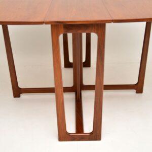 1960's Teak Vintage Drop Leaf Dining Table