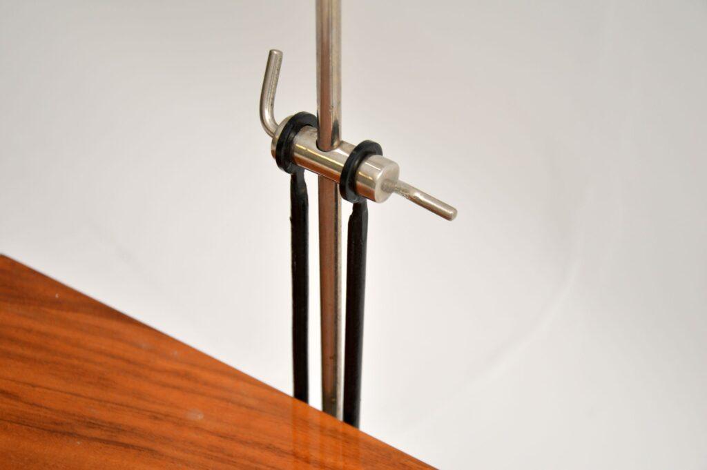 retro vintage walnut lamp side table