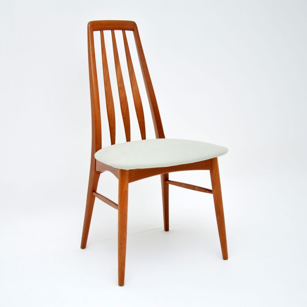 8 danish retro vintage teak dining chairs niels kofoed kofoed hornslet
