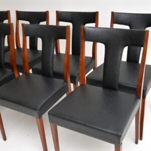 Set of 8 Vintage Rosewood Dining Chairs by Robert Heritage