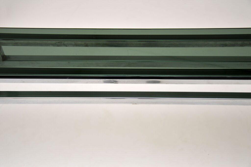 retro vintage chrome glass console table