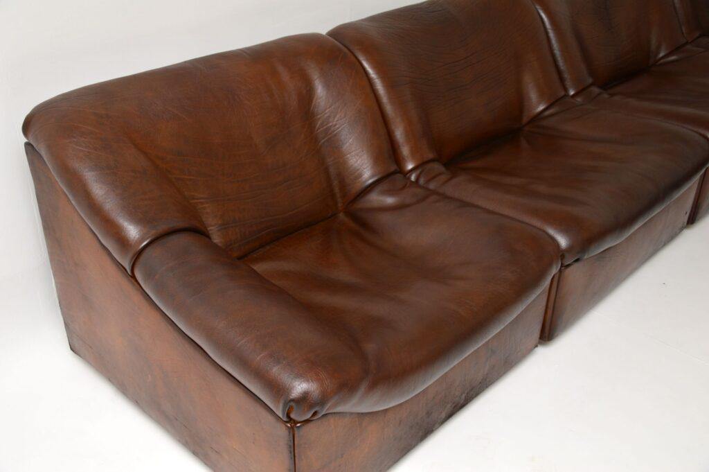 ds46 vintage retro leather corner modular sofa de sede