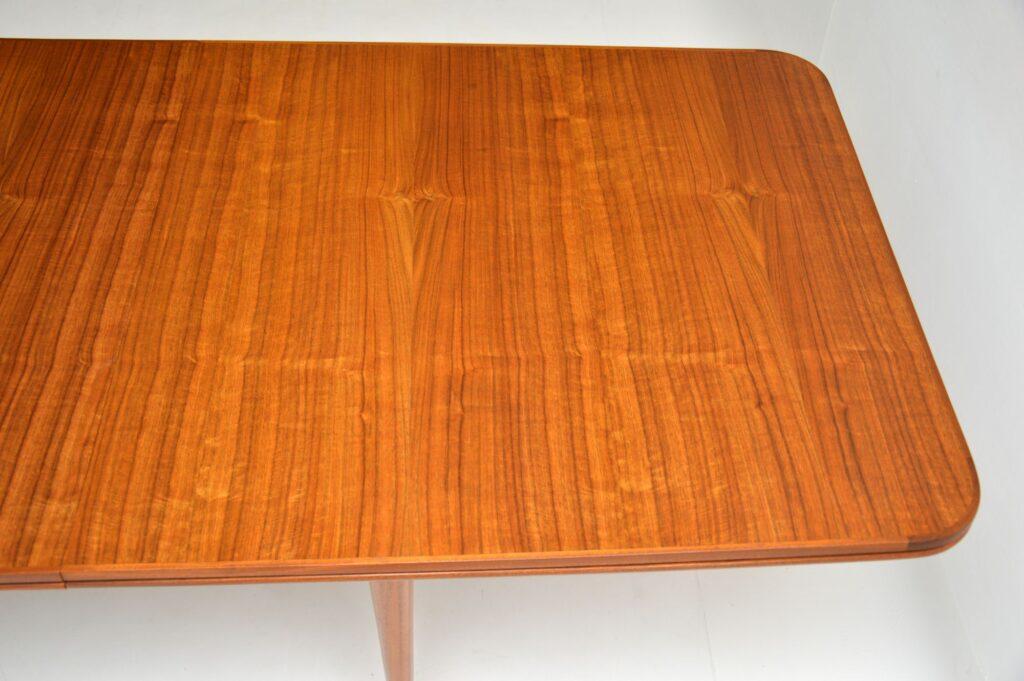 retro vintage archie shine robert heritage walnut hamilton dining table