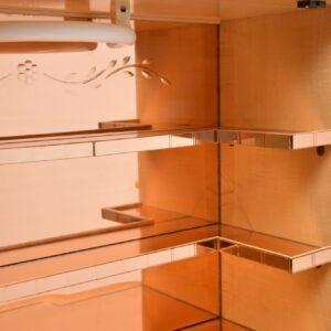 art deco epstein burr maple walnut cocktail drinks cabinet