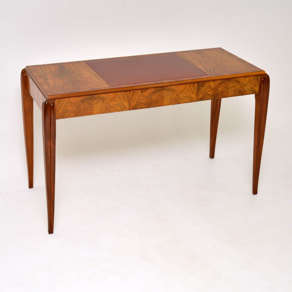 art deco vintage retro walnut desk writing table mcintosh