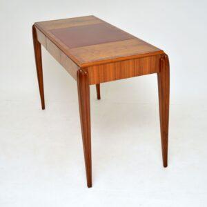 art deco vintage retro walnut desk writing table mcintosh