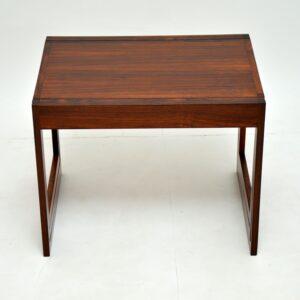 retro vintage rosewood nest of tables illum wikkelso cfc silkeborg