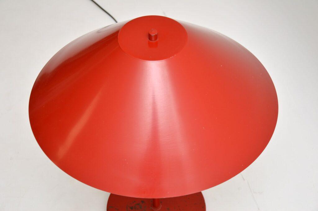 danish red bintage retro table lamp es horn