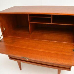 danish teak retro vintage bureau cabinet desk